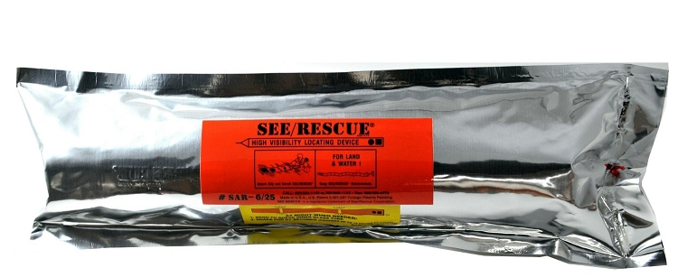 SEE/RESCUE STREAMER - SAR  40' PLS Lighted Large Version