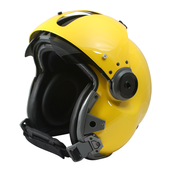 MSA Gallet LH250 - Yellow w/ Carbon Visor - NVG - Small