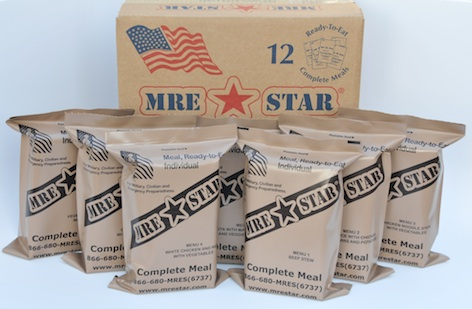 MRE - FULL CASE, 12 MEALS - Without Heaters